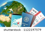 travel time vector illustration ... | Shutterstock .eps vector #1122197579