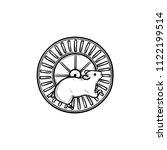 hamster wheel hand drawn... | Shutterstock .eps vector #1122199514