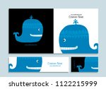 blue whale  business cards... | Shutterstock .eps vector #1122215999