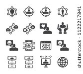 user experience icon set | Shutterstock .eps vector #1122217841