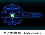 hud futuristic bitcoin... | Shutterstock .eps vector #1122221339