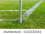 close up corner flag and soccer ...   Shutterstock . vector #1122222161