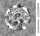 ovenproof on grey camouflaged... | Shutterstock .eps vector #1122228434