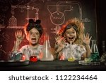 funny school children doing... | Shutterstock . vector #1122234464