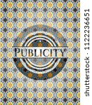 publicity arabesque style... | Shutterstock .eps vector #1122236651