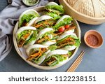 homemade asian vegetarian...   Shutterstock . vector #1122238151