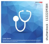 medical stethoscope icon   free ... | Shutterstock .eps vector #1122239384
