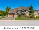 big custom made luxury house... | Shutterstock . vector #1122253541