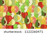 mix fruits background | Shutterstock .eps vector #1122260471