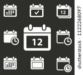 calendar day icons. vector... | Shutterstock .eps vector #1122268097