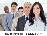 young smiling businessman... | Shutterstock . vector #112226999