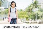 pupil of primary of preschool... | Shutterstock . vector #1122274364