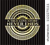 a true love story never ends... | Shutterstock .eps vector #1122275111