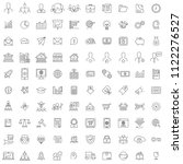 100 business icon set with... | Shutterstock .eps vector #1122276527