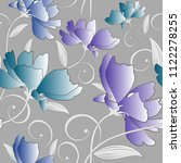 seamless fancy colorful floral... | Shutterstock .eps vector #1122278255