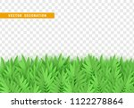 green leaves  bushes. grass ... | Shutterstock .eps vector #1122278864