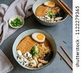 homemade japanese cuisine  ...   Shutterstock . vector #1122279365
