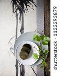 korean food  rice cake on plate   Shutterstock . vector #1122293879