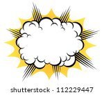 cloud after the explosion | Shutterstock .eps vector #112229447