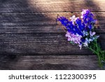 summer flowers  lupines on a... | Shutterstock . vector #1122300395