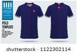 japan team polo t shirt sport... | Shutterstock .eps vector #1122302114