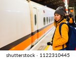 female tourists waiting for the ...   Shutterstock . vector #1122310445