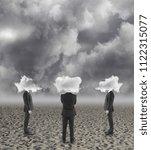 back view of cloud headed...   Shutterstock . vector #1122315077