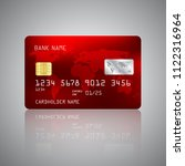 realistic detailed credit card... | Shutterstock .eps vector #1122316964