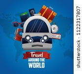 time to travel around the world | Shutterstock .eps vector #1122317807