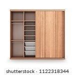 modern wooden wardrobe with... | Shutterstock . vector #1122318344