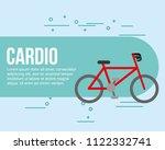 bike sport cardio healthy | Shutterstock .eps vector #1122332741