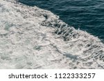wave of ship on water surface... | Shutterstock . vector #1122333257