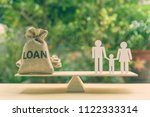 family finance   financial loan ... | Shutterstock . vector #1122333314