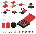 rigid magnet lipsticks product... | Shutterstock .eps vector #1122339227