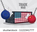 trade war concept | Shutterstock .eps vector #1122341777