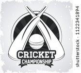 cricket championship game | Shutterstock .eps vector #1122341894