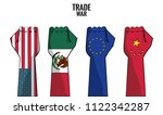 trade war concept | Shutterstock .eps vector #1122342287