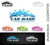 car wash logo  cleaning car ... | Shutterstock .eps vector #1122345734