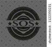sos black emblem | Shutterstock .eps vector #1122350231