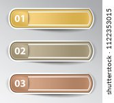 set of stickers with numbers... | Shutterstock .eps vector #1122353015