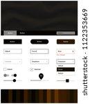 dark brown vector ui kit with...