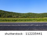 american country road side view | Shutterstock . vector #112235441