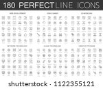 180 modern thin line icons set... | Shutterstock . vector #1122355121