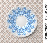 decorative plate with round...   Shutterstock .eps vector #1122357554