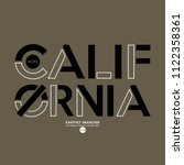 california slogan  for t shirt... | Shutterstock .eps vector #1122358361
