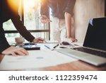 business people coworkers... | Shutterstock . vector #1122359474