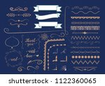set of vector graphic elements... | Shutterstock .eps vector #1122360065