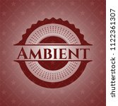 ambient vintage red emblem | Shutterstock .eps vector #1122361307