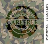 carefree on camouflage texture | Shutterstock .eps vector #1122361391