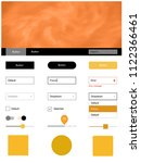 light orange vector ui kit with ...